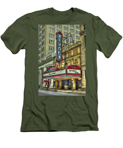 Jewel Of The South Tivoli Chattanooga Historic Theater Men's T-Shirt (Slim Fit) by Reid Callaway