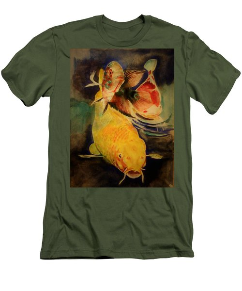 Jewels Of Lakes. Men's T-Shirt (Slim Fit) by Khalid Saeed