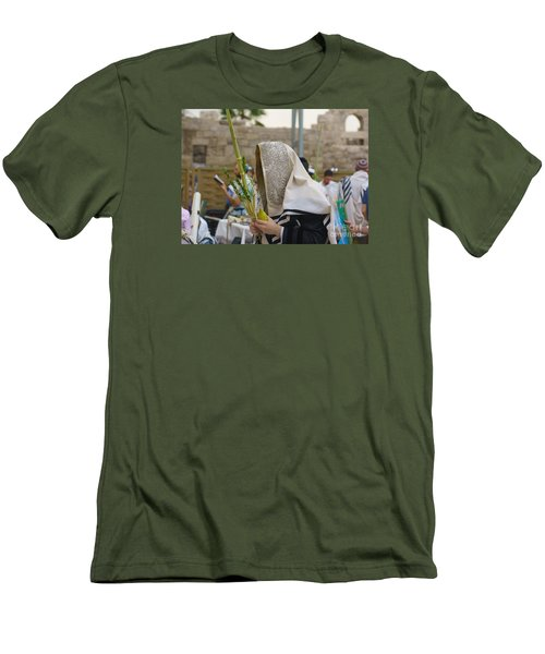 Jewish Sunrise Prayers At The Western Wall, Israel 7 Men's T-Shirt (Athletic Fit)