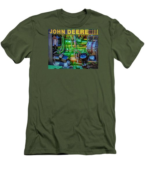 Men's T-Shirt (Slim Fit) featuring the photograph John Deere Engine by Trey Foerster