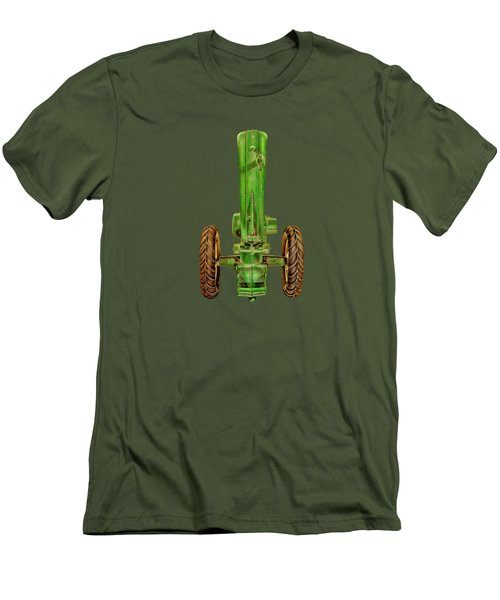 John Deere Top On Black Men's T-Shirt (Slim Fit) by YoPedro