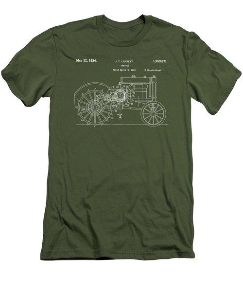 John Deere Tractor Patent Tee Men's T-Shirt (Athletic Fit)
