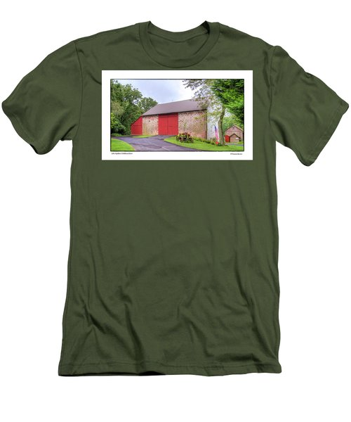 Men's T-Shirt (Slim Fit) featuring the photograph John Updike's Childhood Barn by R Thomas Berner