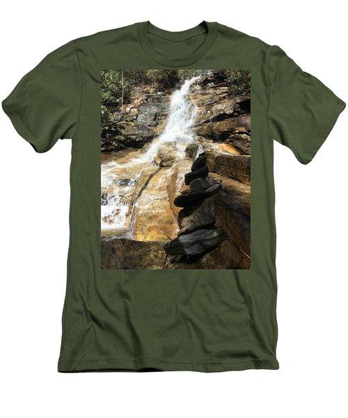 Jones Gap Falls  Men's T-Shirt (Slim Fit) by Kelly Hazel