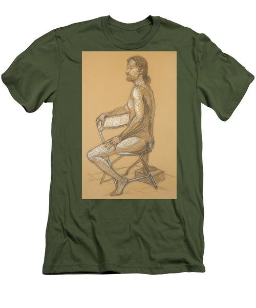 Joseph - Seated Men's T-Shirt (Athletic Fit)