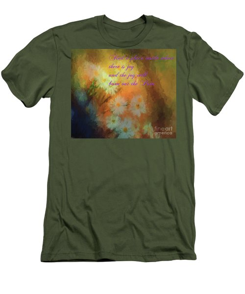 Men's T-Shirt (Slim Fit) featuring the mixed media Joy by Jim  Hatch
