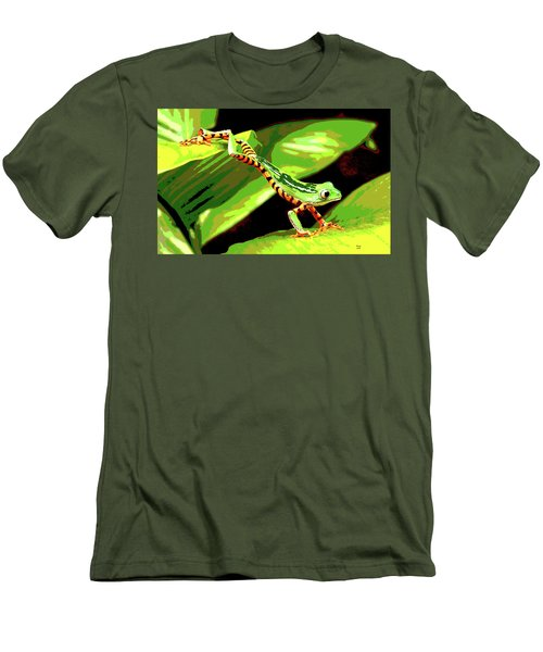 Jumping Frog Men's T-Shirt (Slim Fit) by Charles Shoup