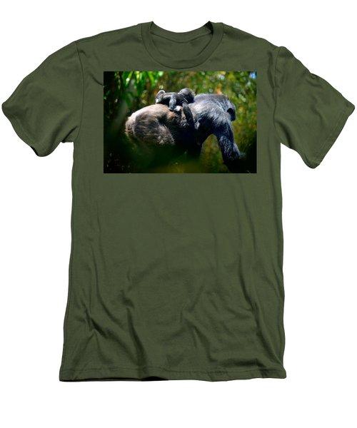 Jungle Baby Hitch Hiker Men's T-Shirt (Slim Fit) by Lori Seaman