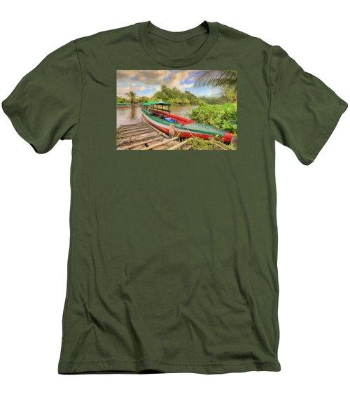 Jungle Boat Men's T-Shirt (Slim Fit) by Nadia Sanowar