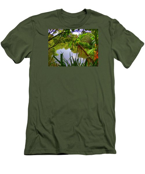 Jungle Garden View Men's T-Shirt (Athletic Fit)