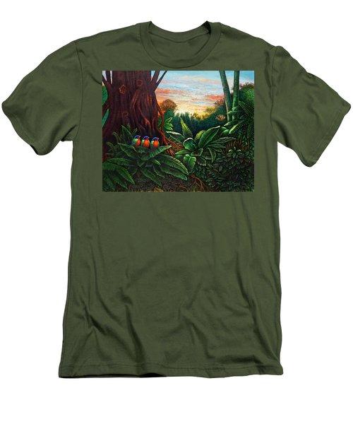 Jungle Harmony 3 Men's T-Shirt (Athletic Fit)