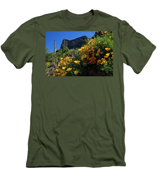Just A Little Sunshine Men's T-Shirt (Slim Fit) by Lucinda Walter