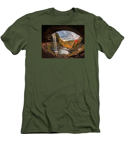 Kaaterskill Falls Men's T-Shirt (Slim Fit) by Anthony Fields