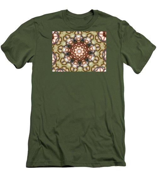 Kaleidoscope 108 Men's T-Shirt (Slim Fit) by Ron Bissett