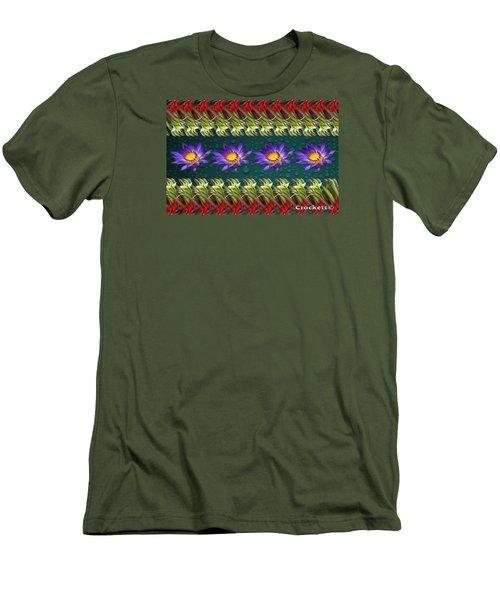 Men's T-Shirt (Slim Fit) featuring the photograph Kangaroo Paw Heaven by Gary Crockett