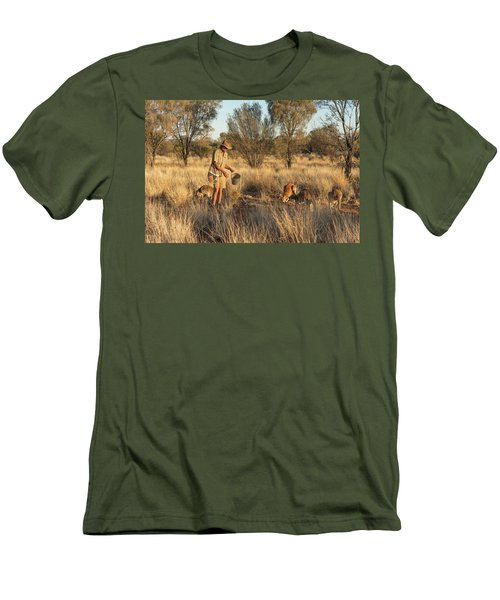 Kangaroo Sanctuary Men's T-Shirt (Athletic Fit)