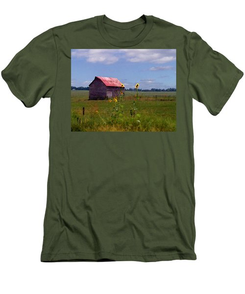 Kansas Landscape Men's T-Shirt (Slim Fit)