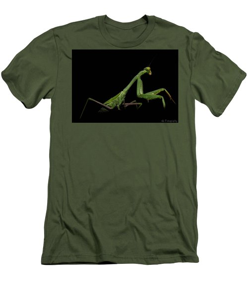 Katydid In Black Men's T-Shirt (Athletic Fit)
