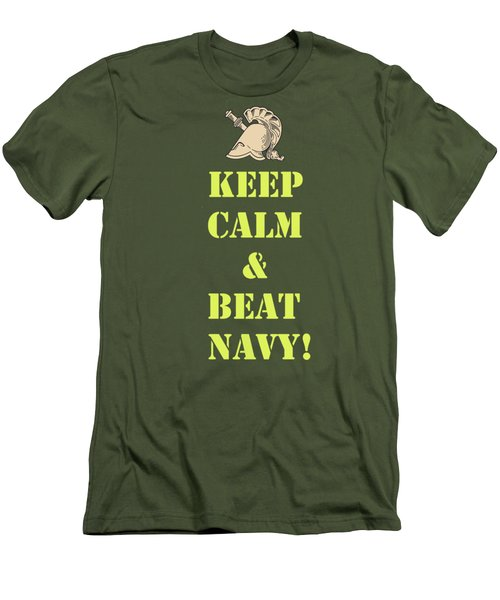 Men's T-Shirt (Slim Fit) featuring the photograph Keep Calm And Beat Navy by Dan McManus