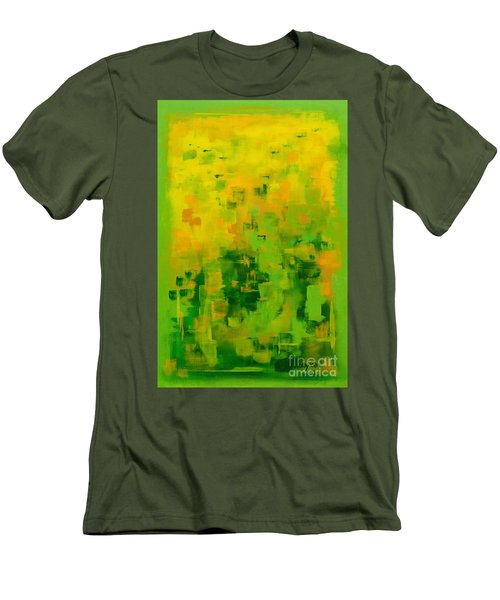 Men's T-Shirt (Slim Fit) featuring the painting Kenny's Room by Holly Carmichael