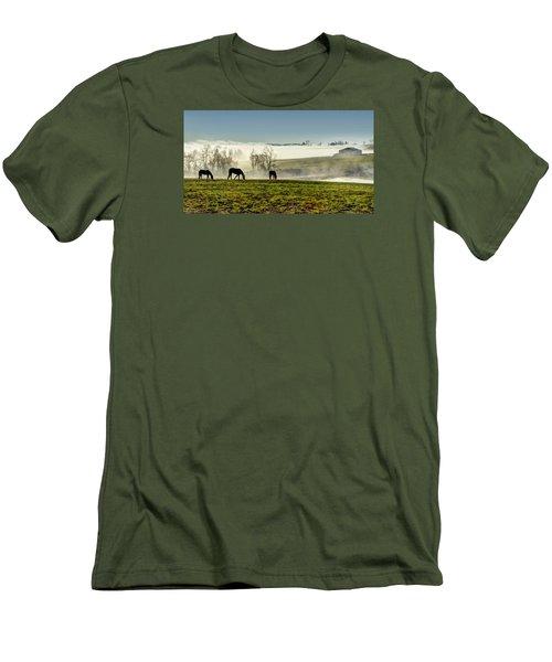Kentucky Bluegrass Morning #1 Men's T-Shirt (Athletic Fit)