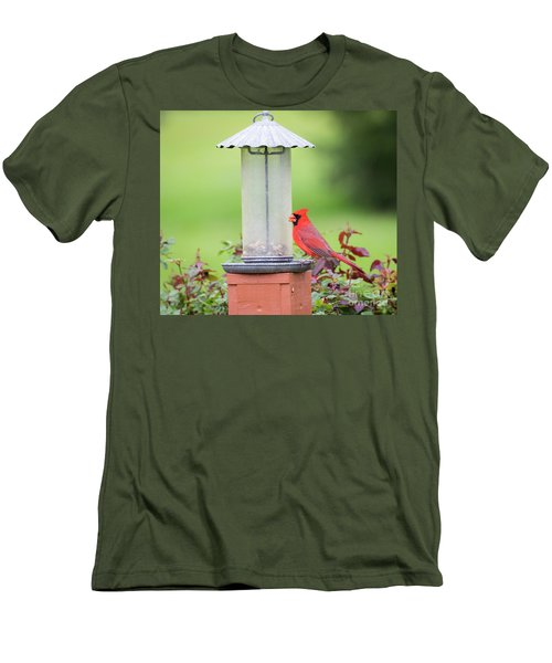 Men's T-Shirt (Athletic Fit) featuring the photograph Kentucky Cardinal  by Ricky L Jones