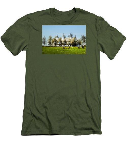 Revised Kentucky Horse Barn Hotel 2 Men's T-Shirt (Slim Fit) by Randall Branham
