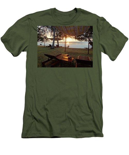 Kenyan African Beach Sunrise 2 Men's T-Shirt (Athletic Fit)