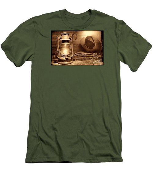 Kerosene Lantern Men's T-Shirt (Slim Fit) by American West Legend By Olivier Le Queinec