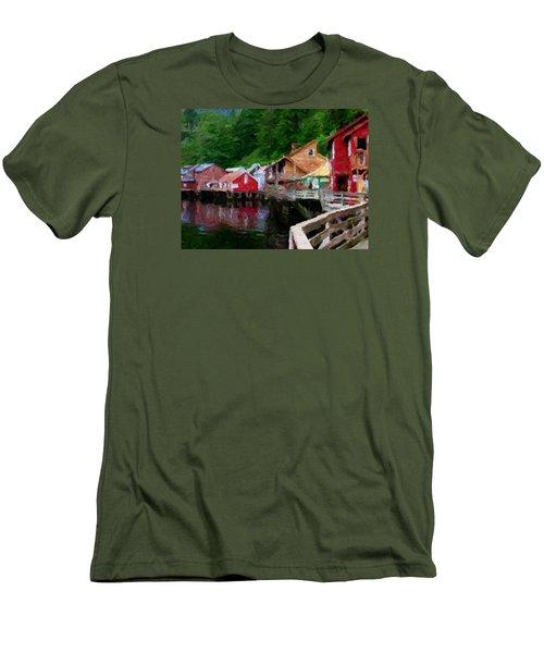 Ketchikan Alaska Men's T-Shirt (Slim Fit) by David Hansen