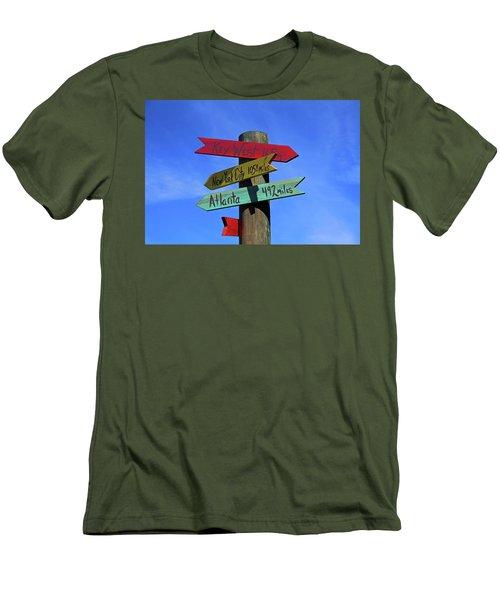 Key West 165 Miles Men's T-Shirt (Athletic Fit)