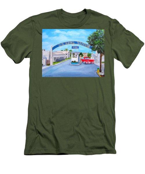 Key West U.s. Naval Station Men's T-Shirt (Athletic Fit)