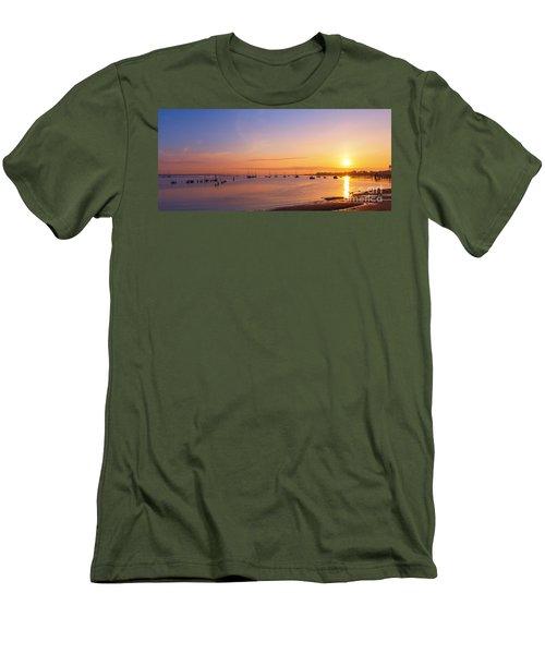 Keyport Harbor Sunrise  Men's T-Shirt (Athletic Fit)