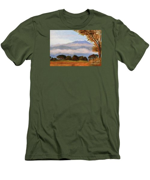 Men's T-Shirt (Slim Fit) featuring the painting Kilamigero by Marcia Dutton