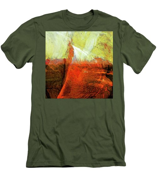Men's T-Shirt (Slim Fit) featuring the painting Kilauea by Dominic Piperata