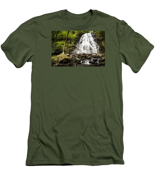 Crabtree Falls - Blue Ridge Parkway North Carolina Men's T-Shirt (Athletic Fit)