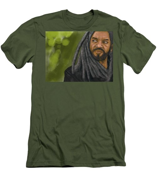 Men's T-Shirt (Athletic Fit) featuring the digital art King Ezekiel by Antonio Romero