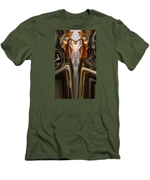 Men's T-Shirt (Slim Fit) featuring the painting King Of The Aviary by Steve Sperry