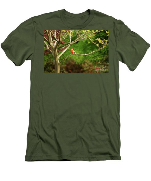 King Parrot Men's T-Shirt (Slim Fit) by Cassandra Buckley