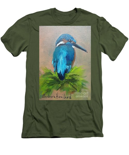 Kingfisher Bird Men's T-Shirt (Slim Fit)