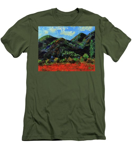Men's T-Shirt (Athletic Fit) featuring the painting Kings Canyon Fall Colors by Walter Fahmy