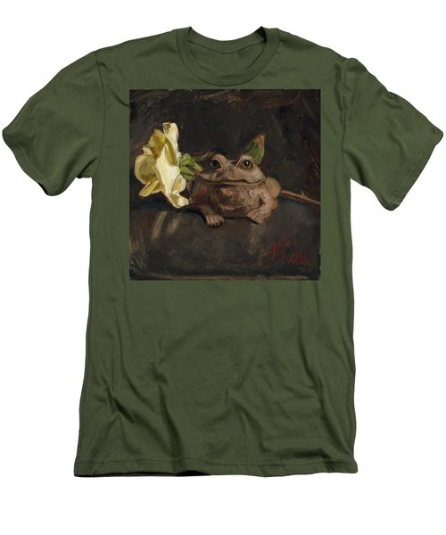 Men's T-Shirt (Slim Fit) featuring the painting Kiss Me And Find Out by Billie Colson