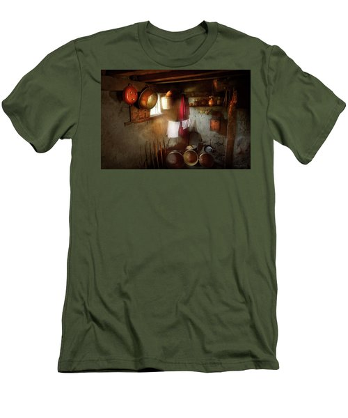 Men's T-Shirt (Slim Fit) featuring the photograph Kitchen - Homesteading Life by Mike Savad