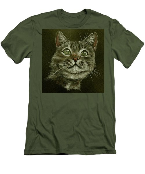 Kitty Cat Men's T-Shirt (Slim Fit) by Heidi Kriel