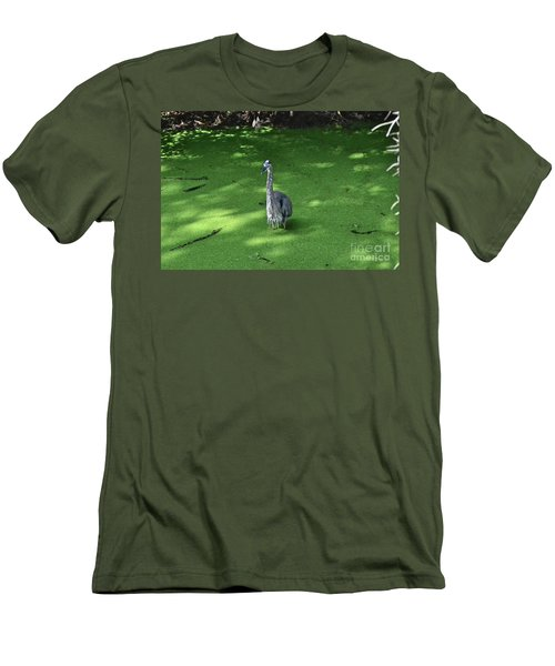 Men's T-Shirt (Slim Fit) featuring the photograph Knee Deep by Carol  Bradley