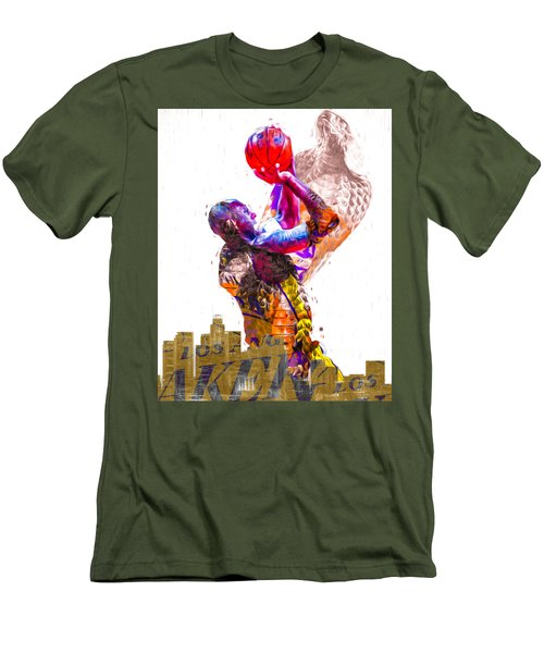Kobe Bryant Los Angeles Lakers Digital Painting Snake 1 Men's T-Shirt (Athletic Fit)