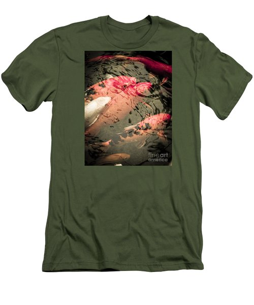 Koi Carps Men's T-Shirt (Slim Fit) by Perry Van Munster