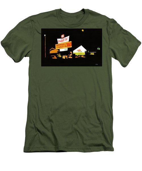 Krispy Kreme At Night Men's T-Shirt (Athletic Fit)