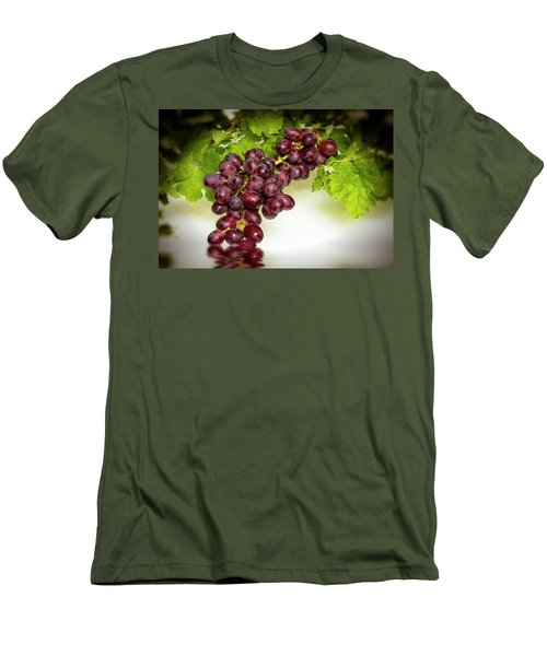Krissy Gold Grapes Men's T-Shirt (Slim Fit) by David French