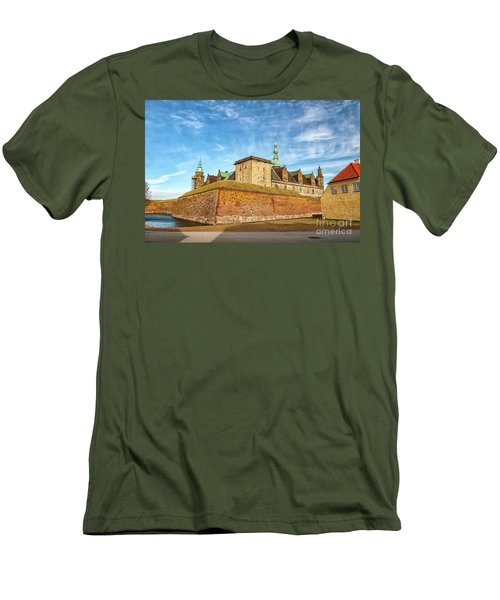 Men's T-Shirt (Slim Fit) featuring the photograph Kronborgsslott In Helsingor by Antony McAulay